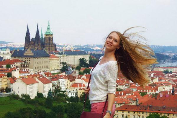 Девушка в Чехии