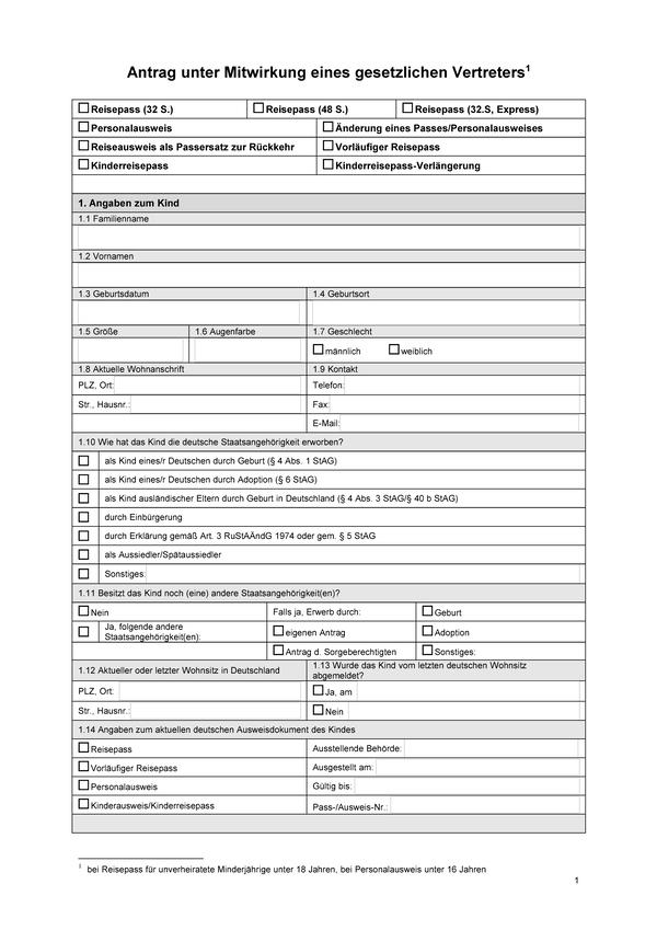 Заявление на получение гражданства Германии