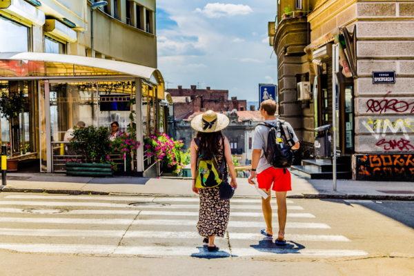 Туристы в Сербии