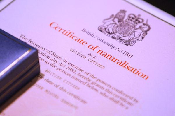 Сертификат британского гражданства