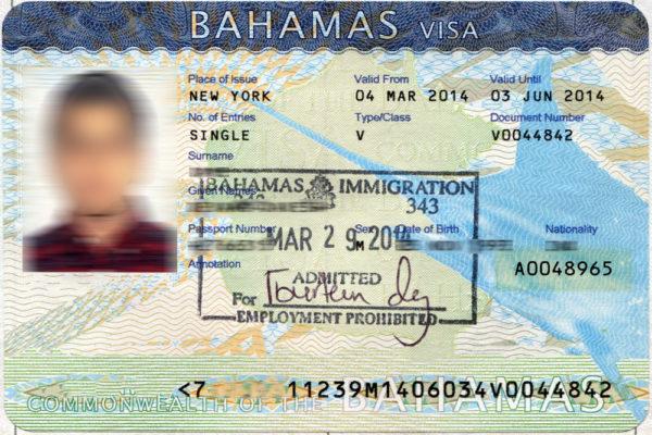 Виза на Багамы