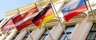 Флаги стран Европы