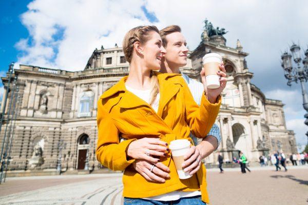Пара в Дрездене