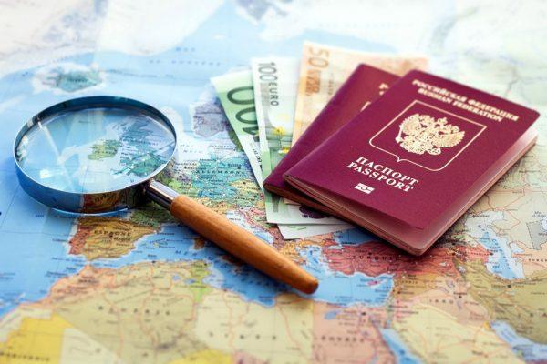 Загранпаспорт и карта