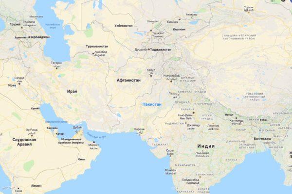 Пакистан на карте