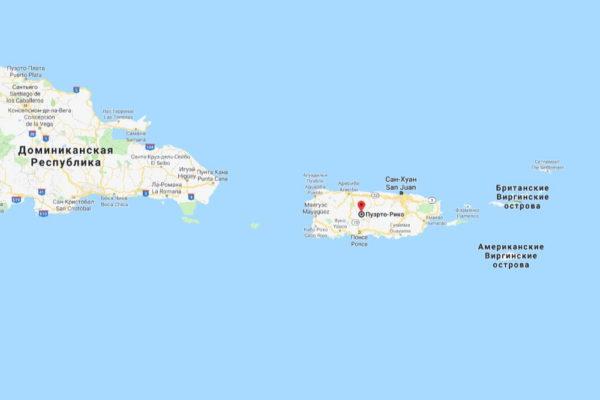 Пуэрто-Рико на карте